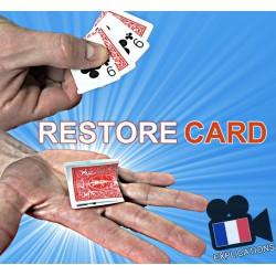 RESTORE CARD (Carte pliée restaurée)