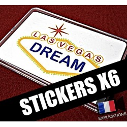 STICKERS VEGAS DREAM / SUPER TRIPLE COIN (Version 1 Dollar) (X6)