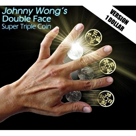 Super Triple Coin DOUBLE FACE - Johnny Wong (Version 1 Dollar)