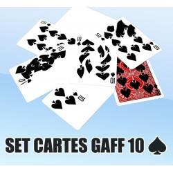 SET CARTES GAFF 10 ♠️