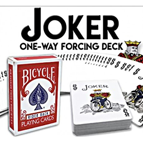 Cartes Bicycle Truqué Joker à Forcer (Joker One Way Forcing Deck)