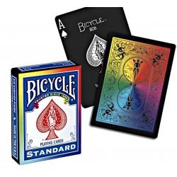 CARTES BICYCLE RAINBOW V2 BLACK EDITION