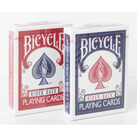cartes bicycle rider back