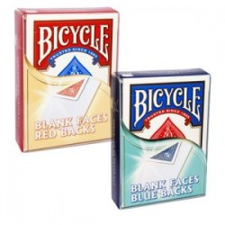 Cartes Bicycle Faces Blanches