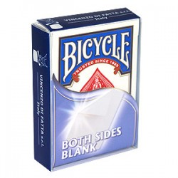 Cartes Bicycle Double Faces Blanches (Blanc/Blanc)