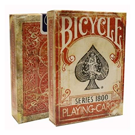Jeu marqué Bicycle Vintage 1800 - Ellusionist